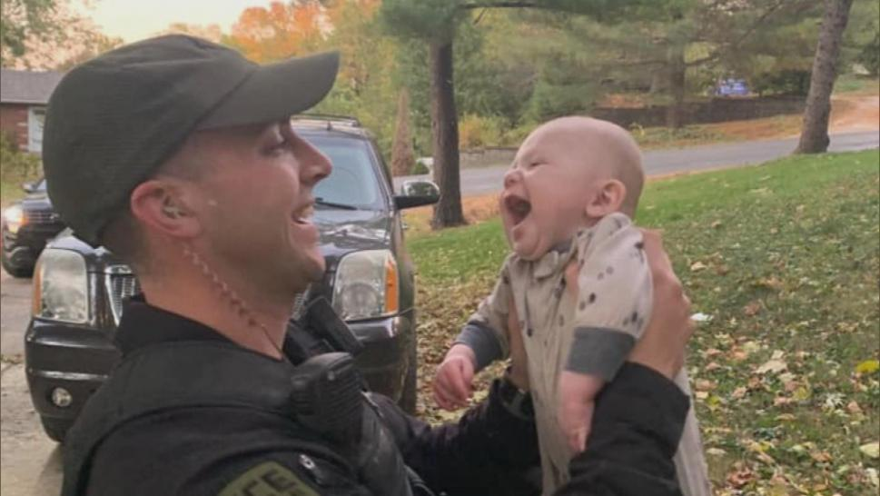 An officer who saved a choking baby