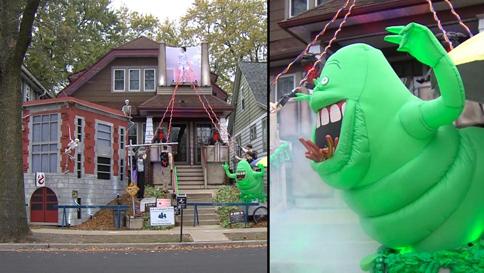 'Ghostbusters' Halloween House Pays Tribute to 1984 Film