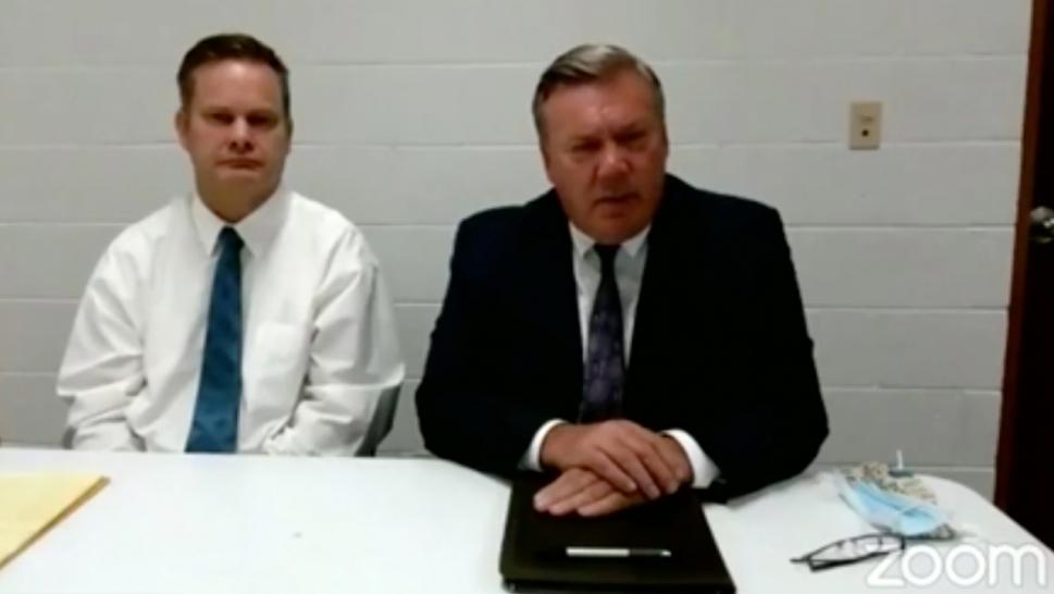 Chad Daybell and his attorney, John Prior