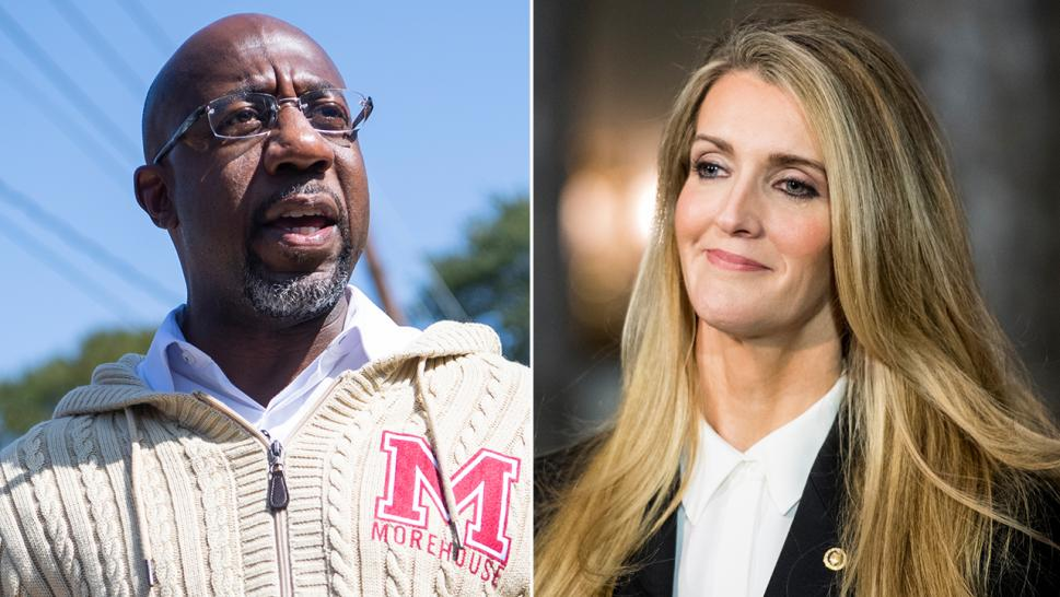 Democrat Rev. Dr. Raphael G. Warnock (left) faces off against Republican Senator Kelly Loeffler (right) in one of Georgia's two Senate races.