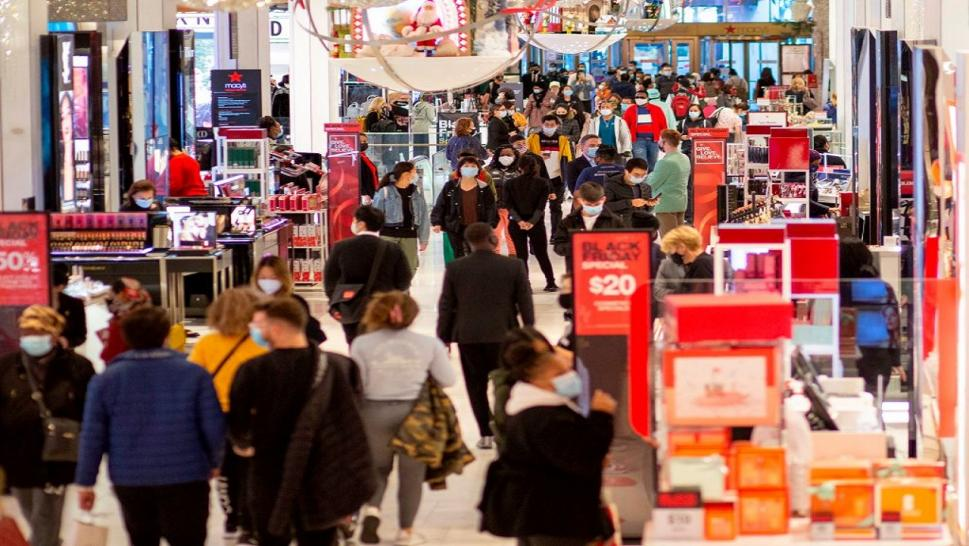 Despite the pandemic, shoppers still turned out in person on Black Friday.