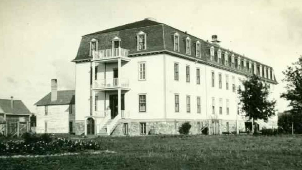 A man who once attended Fort Alexander Residential School (pictured) finally finished his high school degree at 61 years old.