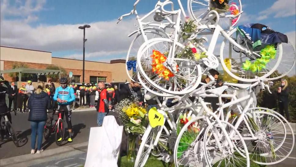 A memorial for bicyclists killed in Nevada