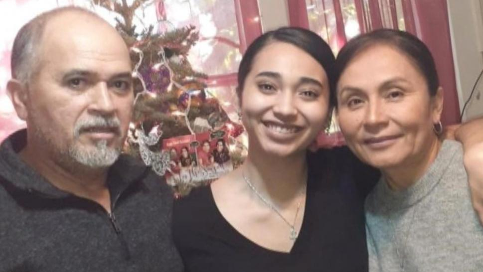 Cielo Echegoyen and her parents