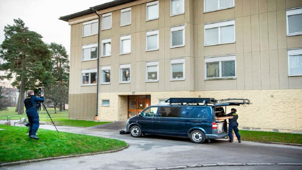 The apartment where a Swedish mother allegedly locked up her son.