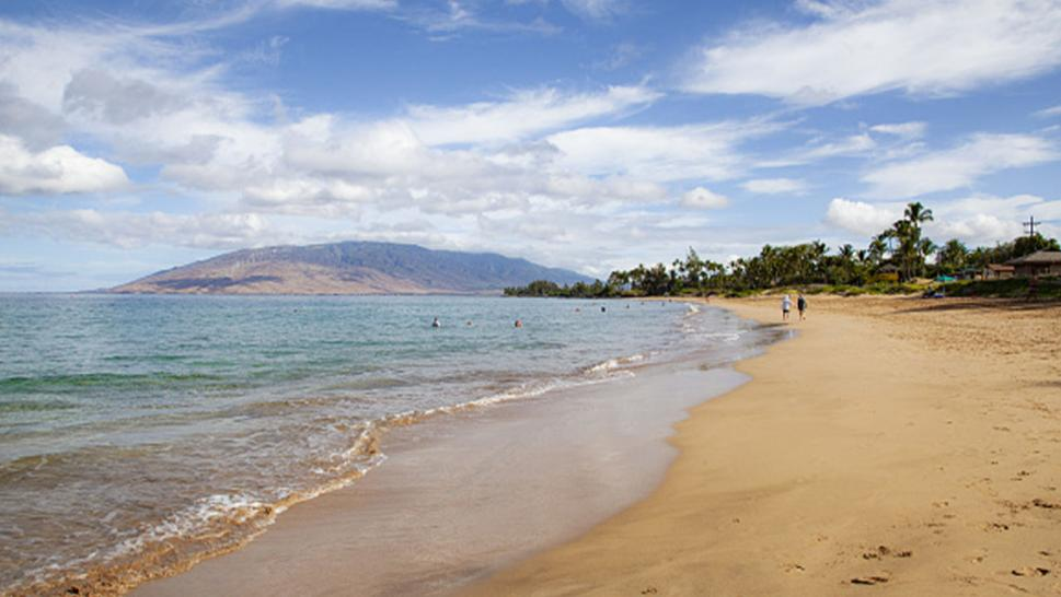 One of the many beaches on Hawaii.