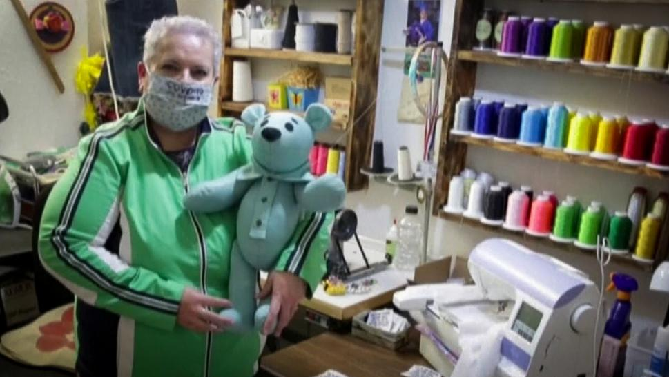 Woman Sews Teddy Bears for People Coping With COVID-19