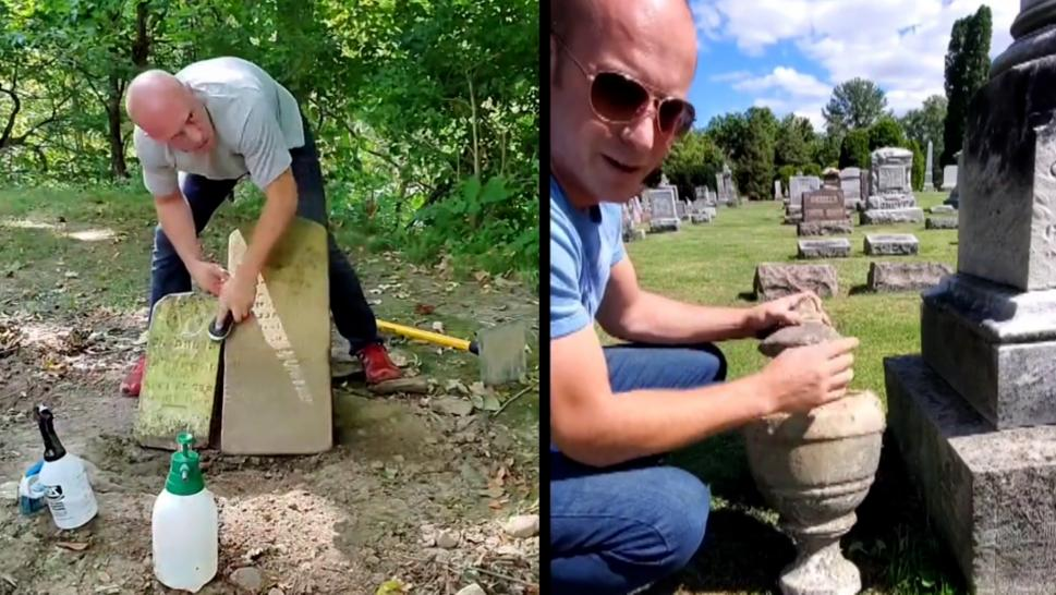 Cleaning Gravestones