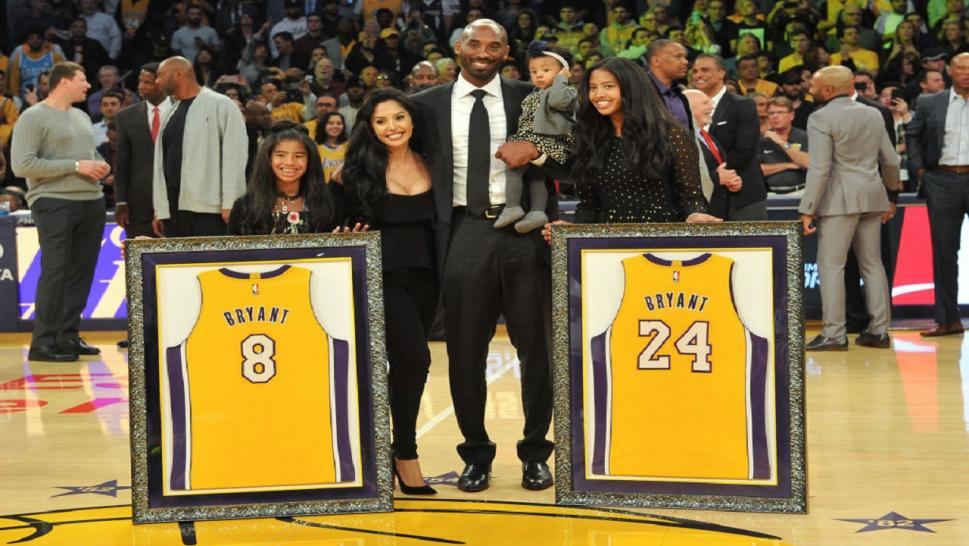 Kobe Bryant and his family.