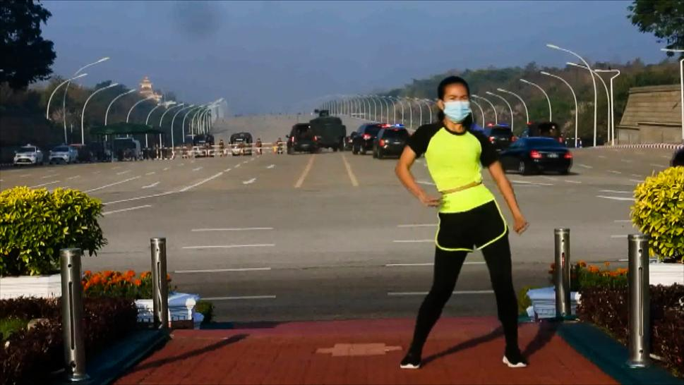Fitness Instructor Makes Video During Myanmar Military Coup