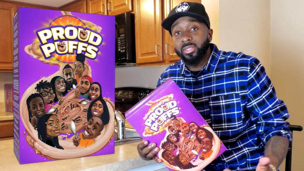 Nic King with his brand of cereal