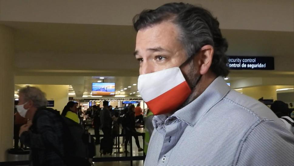 Ted Cruz in an airport
