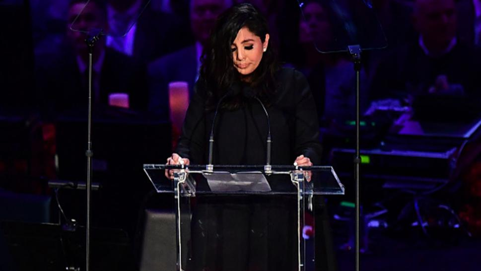 Vanessa Bryant speaking during Kobe's memorial service.