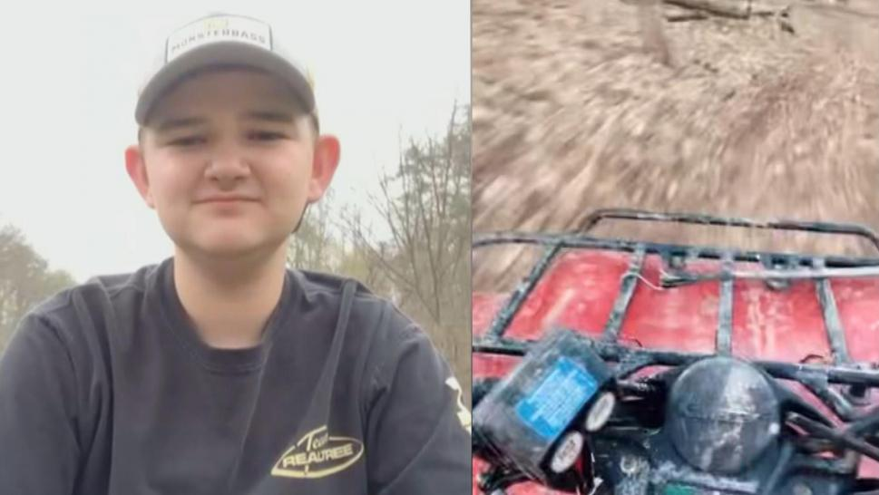 Trent Jarret was rescued from an ATV accident