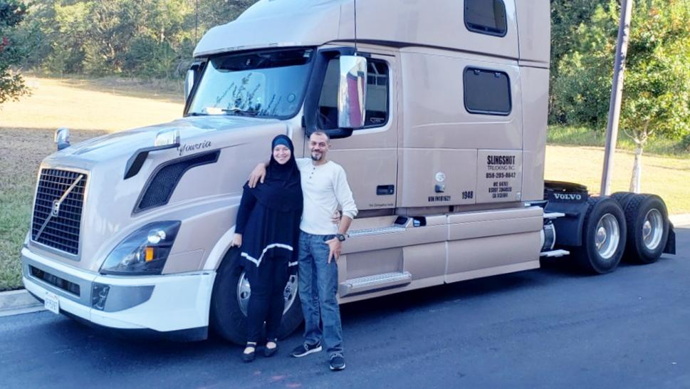 Truck driver Ahmed Shaaban purchased the big rig in November 2020.