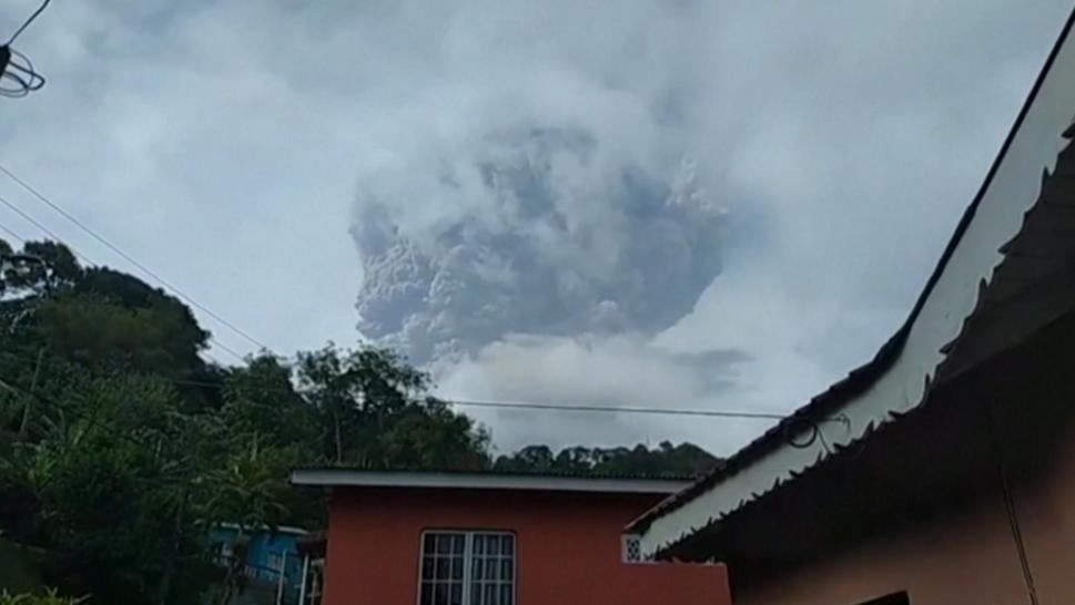 La Soufriere Erupts After Being Dormant More Than 40 Years