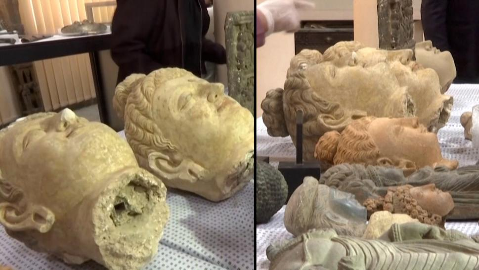 Dozens of Smuggled Artifacts Are Returned to Afghanistan