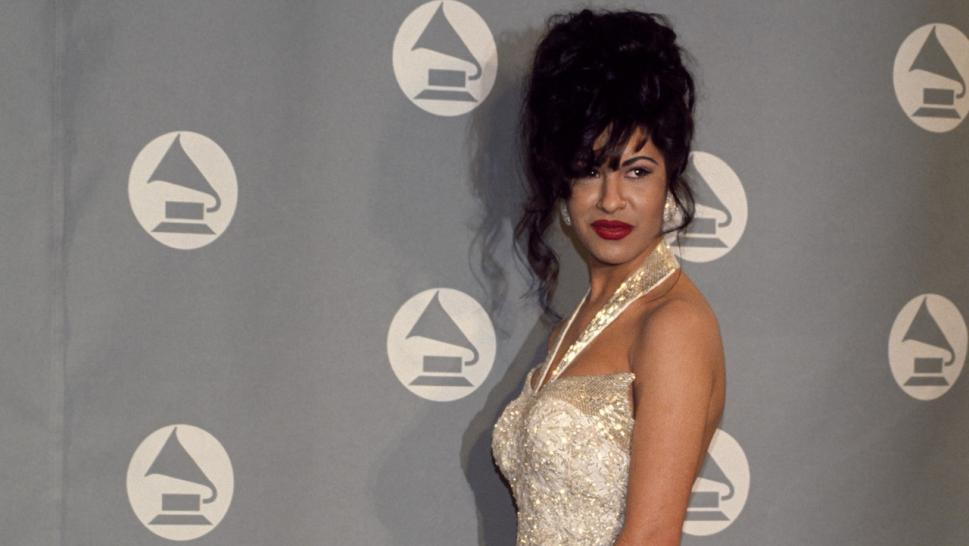 Selena Quintanilla receives Grammy Award at The 36th Annual Grammy Awards on March 1, 1994