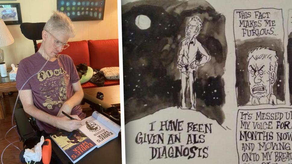 'Genius' Comic Artist With ALS Uses His Eyes to Draw