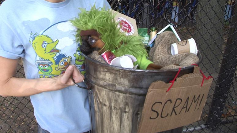 Oscar the Grouch came in fifth place, even though his costume stunk.