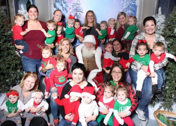 Santa with 10 sets of twins.
