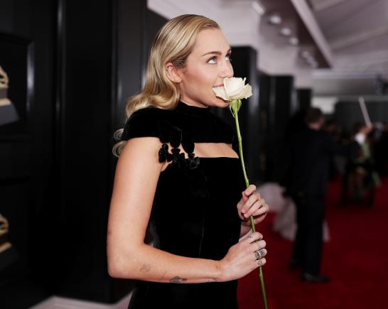 Miley Cyrus at Grammys.