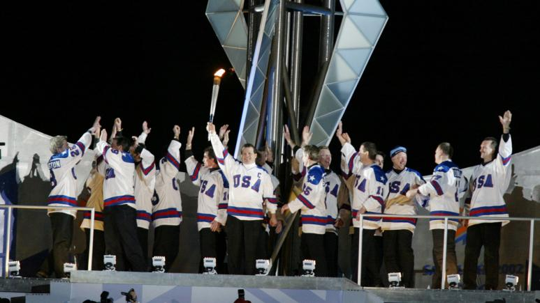 Team USA Lights Olympic Torch