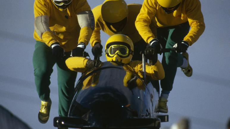 Pushing Jamaican Bobsled