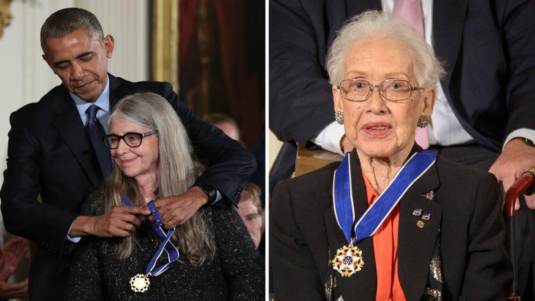 Margaret Heafield Hamilton and Katherine Johnson