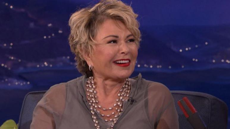 Roseanne Barr during a 2010 appearance on 'Conan.'