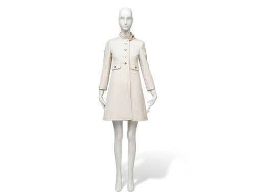 An ivory wool coat belonging to Hepburn will also be sold.