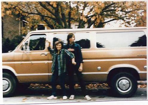 High school sweethearts Tanya Van Cuylenborg, 18, and Jay Cook, 20, set out in a bronze 1977 Ford Club wagon from British Columbia for Seattle on Nov. 18, 1987.