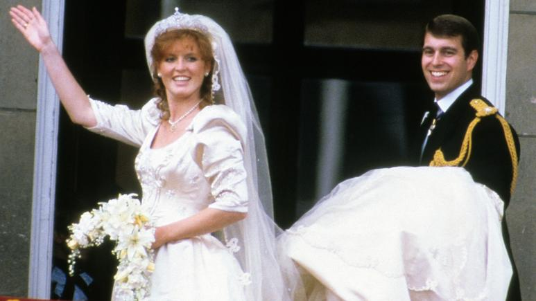 Fergie's dress was said to be modeled after Princess Diana's frock.