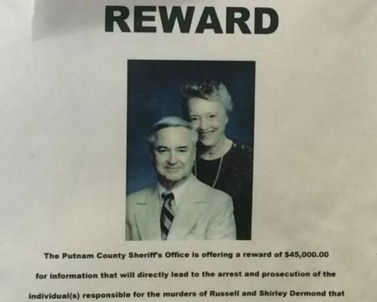 A reward was offered for the murders of Shirley and Russell Dermond.
