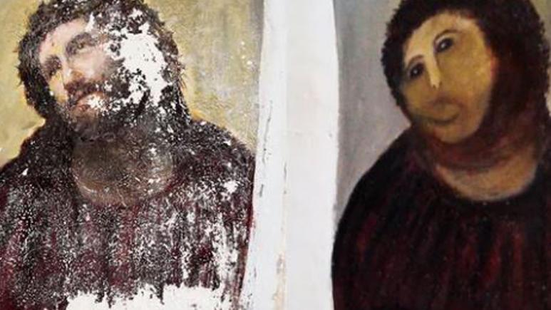 the restoration of 'Ecce Homo' was also a disaster.