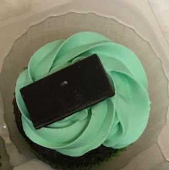 Mint chip is one of BrentLee Martinez's more colorful cupcakes.