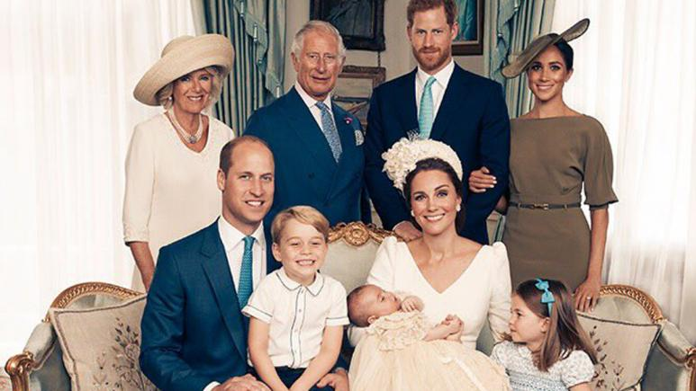 New christening photo of Prince Louis released
