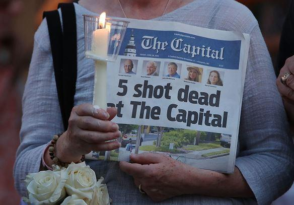 Five employees of a Maryland newspaper were shot and killed at their office.