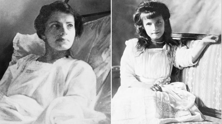 Anna Anderson, left, claimed she was Anastasia, a daughter of slain Russian czar Nicholas II.