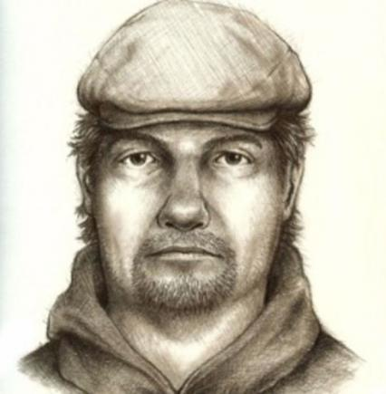 Police sketch of suspect wanted in murders of two girls in Delphi, Indiana.