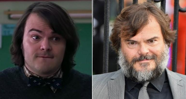 Jack Black, then and now.