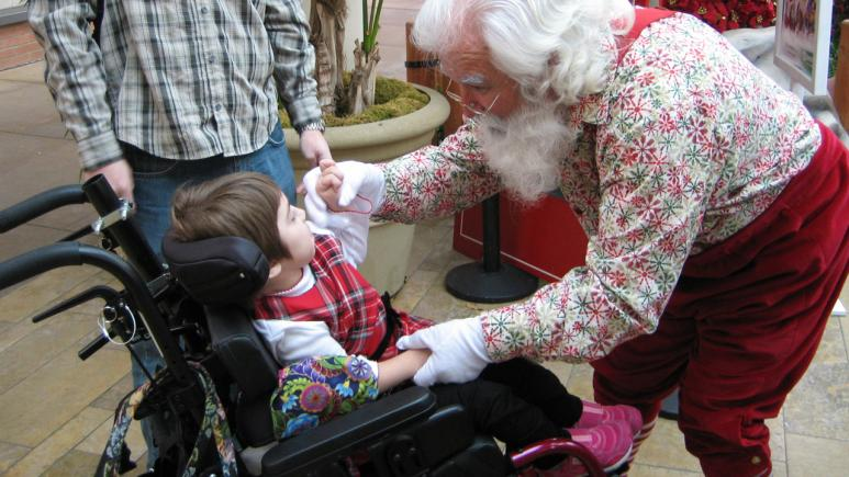 Kids get to visit with Santa in a calm environment.