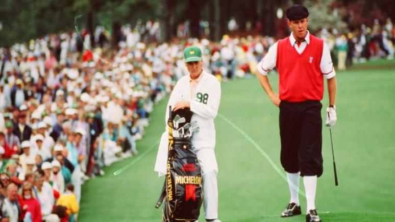 Professional golfer Payne Stewart