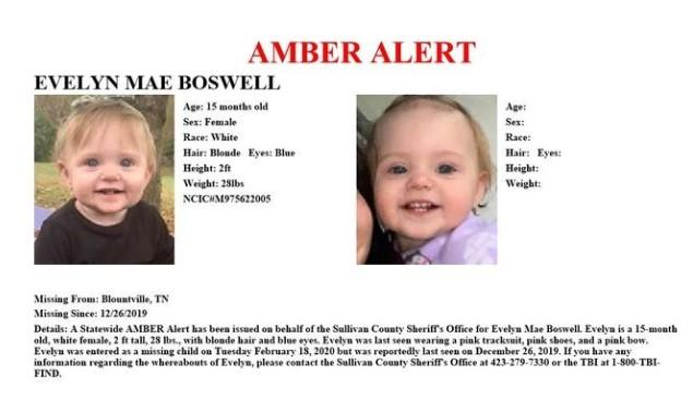 Tennessee authorities issued an Amber alert on Wednesday.