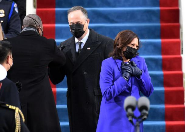 Kamala Harris after being sworn in as vice president.