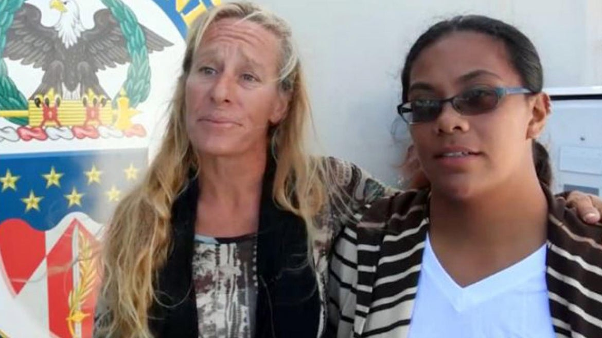 Jennifer Appel and Tasha Fuiava say they were marooned on their boat for five months.