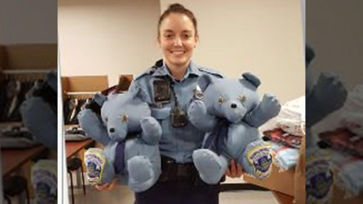 On Tuesday, police officers dropped off two teddy bears made by his fellow officer, Rebecca Werner.