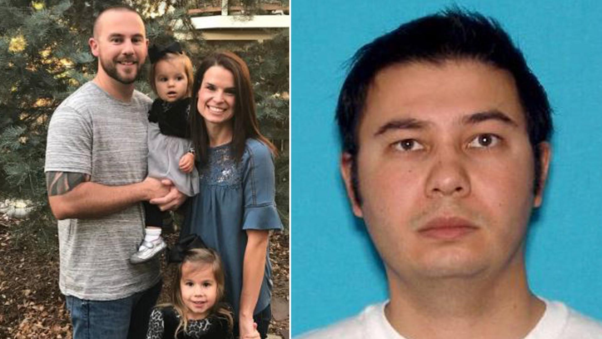 Zackari Parrish, left, leaves a wife and two daughters after gunman Matthew Riehl, right, opened fire in Colorado.