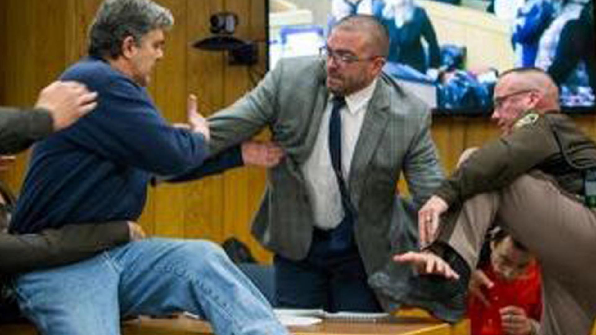 Randall Margraves lunged at Larry Nassar in court last week.