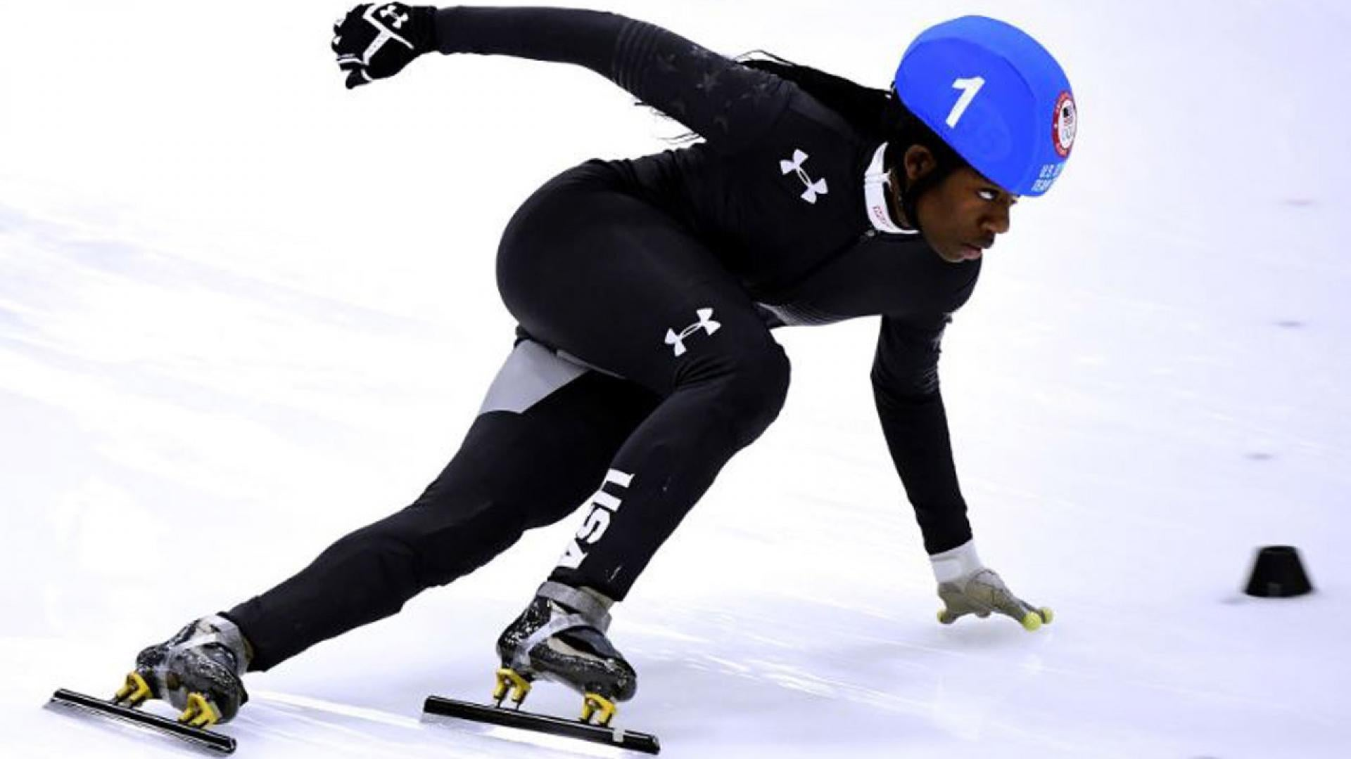Maame Biney is the first black woman to qualify for Olympic speedskating.